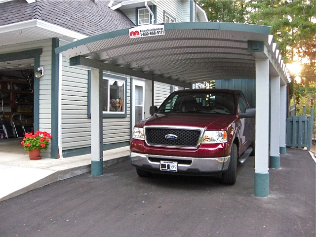 Canopy Carport Kits : Metal carport canopy rainwear